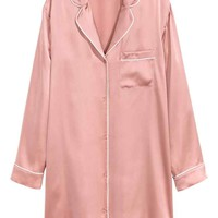 Silk nightshirt - Pink - Ladies | H&M GB