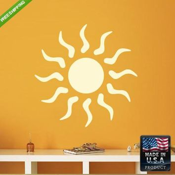 Wall Vinyl Decal Decal Sticker Beautiful Sun Bedroom Decal  z177