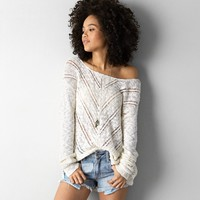 AEO TEXTURED CABLE SWEATER