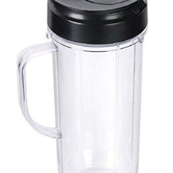 Sduck Handled Smoothie Mug Replacement and Flip Top Lid for Magic Bullet MB 1001 MB 1001B MBR-1101 MBR-1701 Blender (Not for Nutribullet or any other series)
