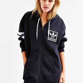 DCCKW2M adidas Originals Trefoil Zip-Up Hooded Sweatshirt