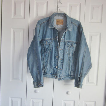 Gap Jean Jacket, Mens Denim Jacket, Vintage Gap Jacket, Hipster Clothing, Mens XL, 90s Grunge, Unisex Womens Oversized Denim Jacket
