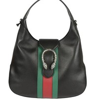 DCCK3SY Gucci Black Leather Handbag