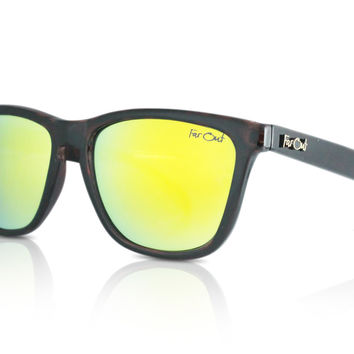 Tortoise Brown Wayfarers Yellow Lens