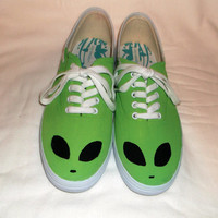 Alien Sneakers || Hand Painted