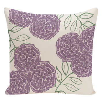 e by design Floral Floor Pillow - Purple