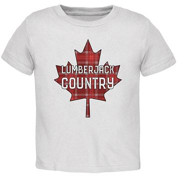 Canada Day Lumberjack Country Plaid Toddler T Shirt