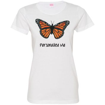 Monarch Butterfly Personalized Ladies' Fine Jersey T-Shirt
