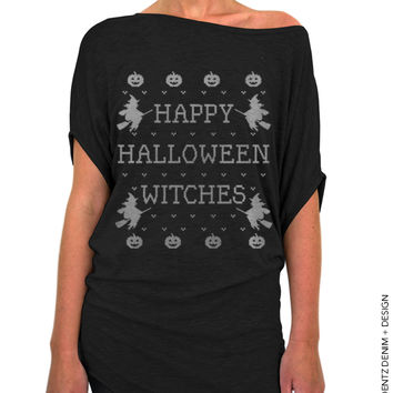 Happy Halloween Witches – Off the Shoulder Slouchy Tee