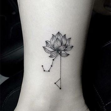 Waterproof Temporary Fake Tattoo Stickers Cool Geometric Lotus Constellation Flowers Unique Design Body Art Make Up Tools