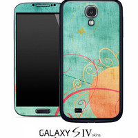 Vintage Orange and Green Skin for the Samsung Galaxy S4, S3, S2, Galaxy Note 1 or 2