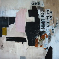 "Saatchi Online Artist: Nicole Sample; Paint, 2012, Mixed Media ""Homage to Rauschenberg"""