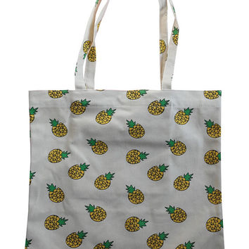 Pineapple Beach Tote Bag with zippered inner pocket double handle Hippie Gypsy Tribe UNISEX Backpack