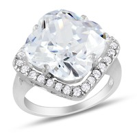 13 Carat Cubic Zirconia Fashion Ring in Sterling Silver
