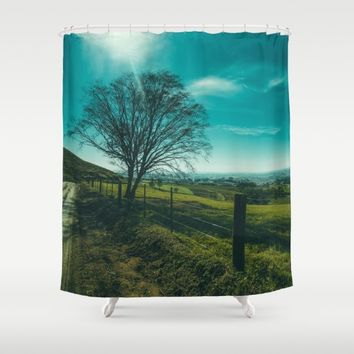 The Walk Home Shower Curtain by Mixed Imagery