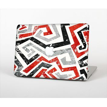 The Red-Gray-Black Abstract V3 Pattern Skin Set for the Apple MacBook Pro 15""