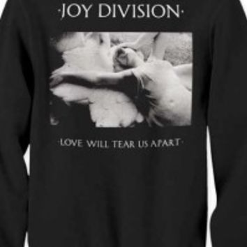 JOY DIVISION - JOY DIVISION LOVE WILL TEAR US APART CREW NECK SWEATSHIRT