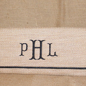 Monogrammed Personalized Straw Envelope Clutch Purse