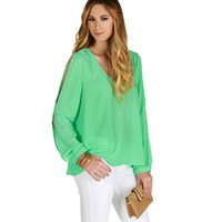 Mint Daydreamer Chiffon Top