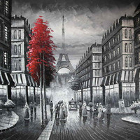 """ORIGINAL OIL PAINTING - 'Paris - After a Rainy Day' - 20"""" x 24"""" on canvas"""