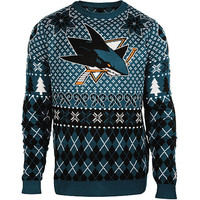 Klew Men's San Jose Sharks Holiday Ugly Sweater