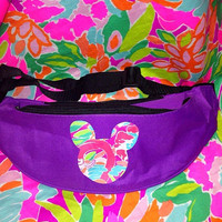 Lilly Pulitzer Inspired Mouse Ears Fanny Pack