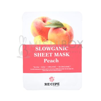 RE:CIPE Slowganic Sheet Mask (Peach) [EXP 08.18.2018]