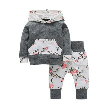 In  Newborn Baby  Clothes Hooded Tops+Long Pants