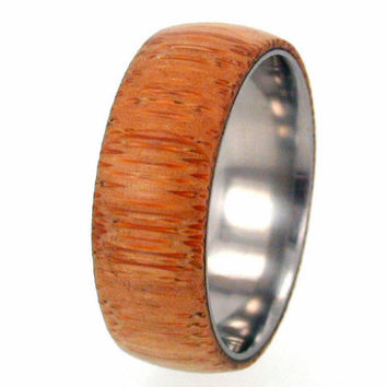 Eco-Friendly Bamboo Wood Titanium Ring with my Ring Armor Waterproofing applied