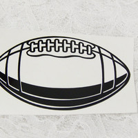 2x4 Inch Football Insignia Athletic Graphic Permanent Vinyl Decal/Bumper Sticker