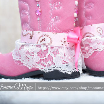 Pink Bling Cowboy boots!!!!! Beautiful Cowgirl boots!!, crystal on your boots! Boots with bows, boots with bling
