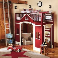Firehouse Loft Bed | Pottery Barn Kids
