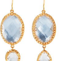 Larkspur & Hawk - Sadie gold-dipped quartz earrings
