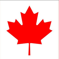 Canada Flag Vehicle Decals, Canada Flag sticker, Canada Flag bumper sticker, Canada Flag car sticker, Canada Day decal
