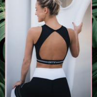 Open Back Crop Top