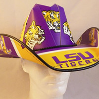 LSU Tigers Cowboy Hat Beer Box case carton