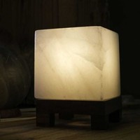 HIMALAYAN CUBE SALT LIGHT - WHITE