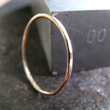 Thin Stacking Ring in 14k Gold Fill