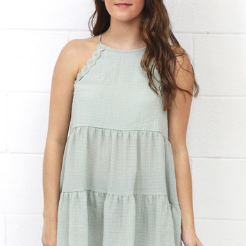 Getting Ruffled Up Layered Tank {Sage}