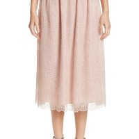 St. John Collection Chantilly Lace Gathered Skirt | Nordstrom