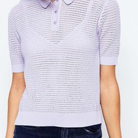 Lost Ink Knitted Polo Shirt