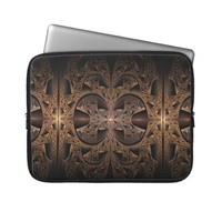 Steampunk Engine Abstract Fractal Artwork Computer Sleeves from Zazzle.com
