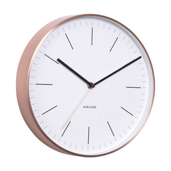 Karlsson Minimal Copper Wall Clock White