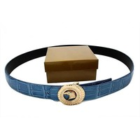 Stefano Ricci Woman Fashion Smooth Buckle Belt Leather Belt-4
