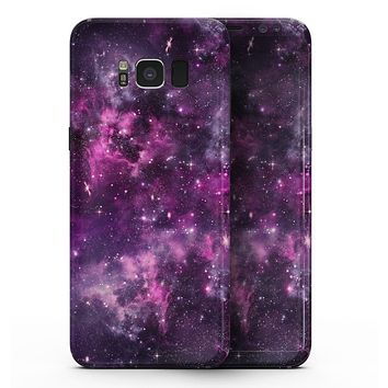 Vibrant Purple Deep Space - Samsung Galaxy S8 Full-Body Skin Kit