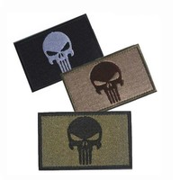 Punisher Skull Embroidered Military Patches