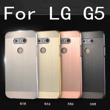 Luxury Aluminum Metal case For LG G5 Hard gold Mirror Hybrid Protective back cover for lg g5 phone housing shell