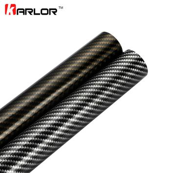 60cmx500cm Glossy 2D Carbon Fiber Vinyl Film Car Decorative Sticker Wrapping Foil Waterproof DIY Decal Motorcycle Automobiles