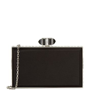 Judith Leiber Satin Coffered Rectangle Clutch | Harrods.com