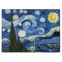 Vincent Van Gogh (The Starry Night, Huge) Art Poster Print - 40x54 Giant Poster Print by Vincent van Gogh, 55x40